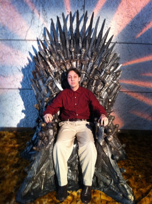 Me sitting in the Iron Throne.