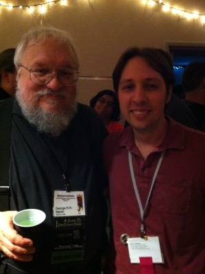 Me and George R. R. Martin.