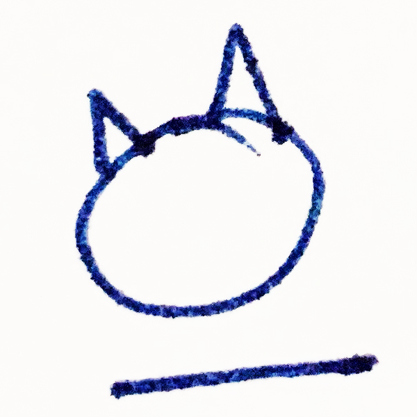 The Tapissary glyph for 'cat' with the 'on' adposition.
