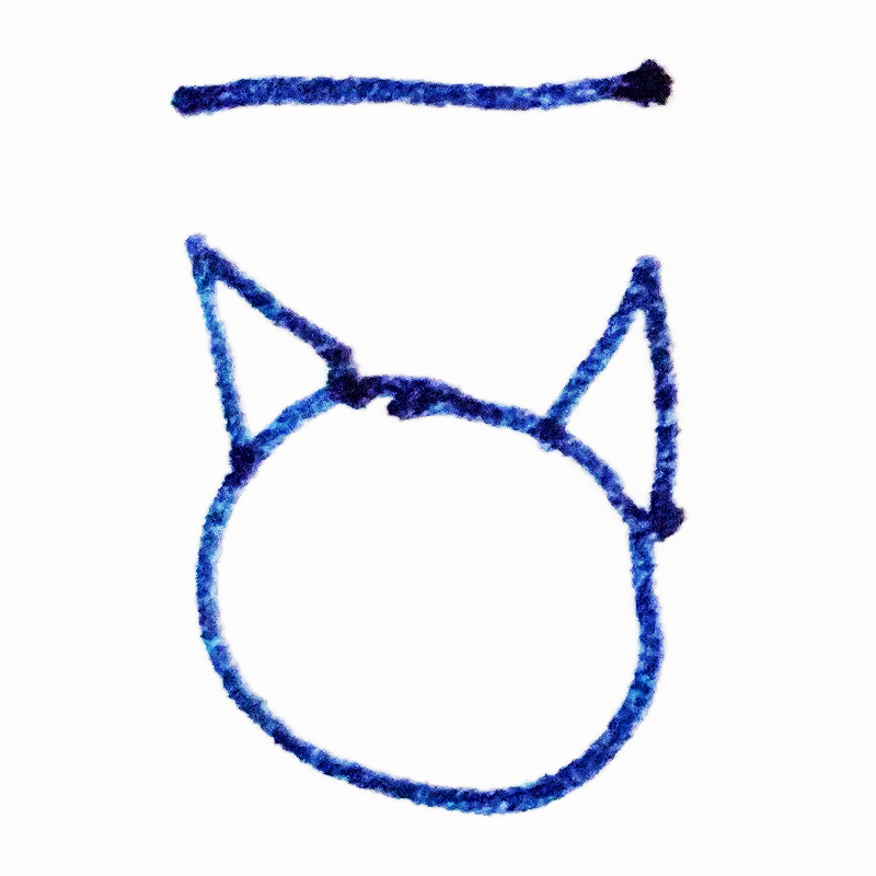 The Tapissary glyph for 'cat' pluralized.