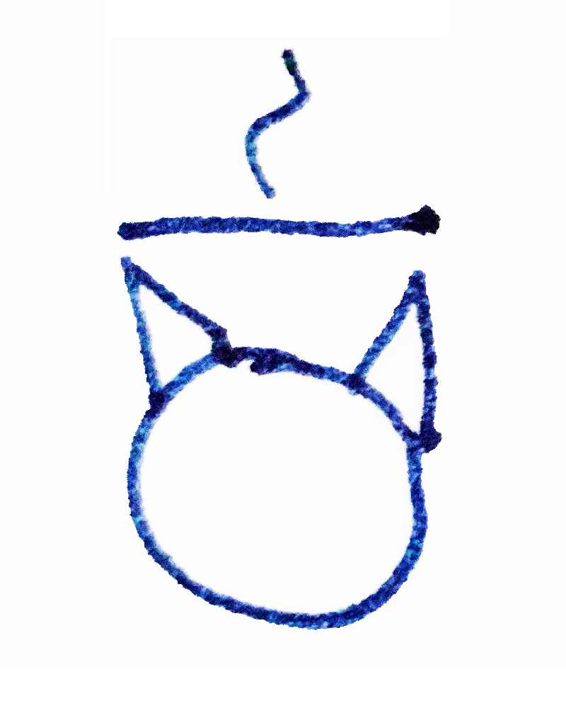 The Tapissary glyph for 'cat' pluralized with the 'for' adposition.